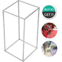 Flower Vase Floor Vase Column Stand 11pcs Metal Road Lead Silver Wedding Decor