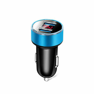 3.1A Dual Ports USB Car Cigarette Charger Lighter Digital 12V-24V LED Voltmeter