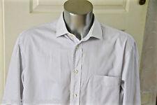 jolie chemise rayée bleue homme FACONNABLE taille 7 17 1/2R (XL-XXL) COMME NEUVE