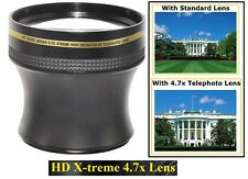 4.7x X-treme HD Tele Lens for Panasonic HDC-SD800 HDC-SDT750 HDC-TM700 HDC-HS700