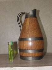 antique PITCHER Burgundy Jar jug wine huge old wood Wine wooden wood retro