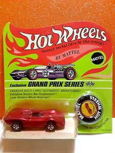 1970 Hot Wheels Redline (Red or Rose Pink) Ferrari  312P Mint on Blisterpack HK