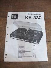 Dual KA 330 Service Manual TOP !!! Reinschauen !!!