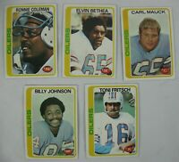 1978 TOPPS LOT OF NFL HOUSTON OILERS FOOTBALL CARDS
