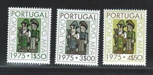 Portugal Stamps | The Revolution Military Forces Issue | 1975 | #1242-1244 MNH