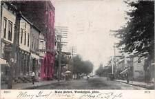 D18/ Woodsfield Ohio Postcard '08 Monroe County Main Street Well Supply Co Store