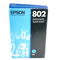 EPSON 802 DuraBrite Ultra Standard Capacity Printer Ink Cartridge Cyan New