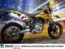 Rieju Motorbike MRT 125 cc supermoto powered by YZF WR 125 Yamaha Motorcycle