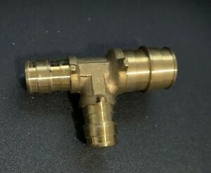 """(1) Ez-Flo PEX 3/4"""" x 1/2"""" x 1/2"""" Tee for Expansion Brass Plumbing Fitting F1960"""