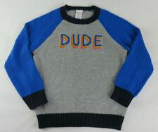 Gymboree Boys Size XS (4) Grey Blue Navy Knit Dude Sweater New