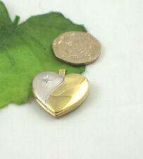 Sterling Silver Round heart Fine Diamond Necklaces & Pendants
