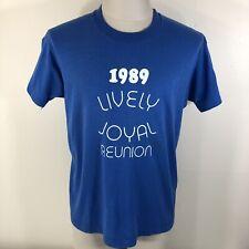 Vintage 80s 1989 Screen Stars Lively Joyal Reunion 50/50 T Shirt Men's M/L Tee