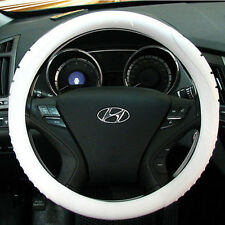 Ionized MASADA Silicone  Car Steering Wheel Cover (White)  -Fits to all cars