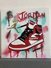12x12 Graffiti Drip Michael Jordan Air Jordan1s Supreme Acrylic Art Painting