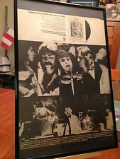 """BIG 11X17 FRAMED GENESIS """"SELLING ENGLAND BY THE POUND"""" LP ALBUM CD PROMO AD"""