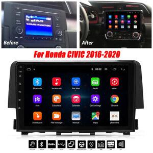 For Honda Civic 2016-2020 Android 9.1 Car Stereo Radio GPS Navigation Player US