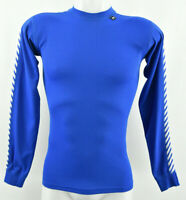 HELLY HANSEN Lifa Stay Dry Active Shirt Mens Blue Crew Neck Long Sleeve Size S
