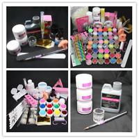US~Nail Art Kit /Acrylic Liquid /Acrylic Powder /False Nail Tips /Manicure tools