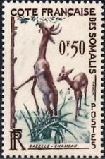 (Ref-12819) French Somali Coast 1958 50c Gazelle SG.434  Mint (MNH)