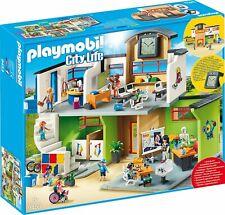 Playmobil City Life 9453 Gran Escuela con muchos accesorios y reloj