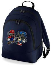 MARIO HEDGEHOG GAMING JOYPAD GAME BACKPACK RUCKSACK SCHOOL BAG
