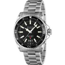 New Gucci Dive Black Dial Stainless Steel YA136301 Mens 40mm Watch