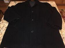 Chaps Ralph Lauren Men's Black Pea Coat Jacket Wool Blend