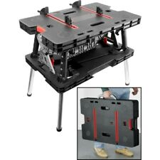 Keter  DIY Folding Work Table Bench  with Adjustable Height & Clamps