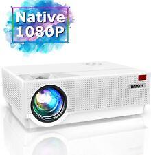 Projector, WiMiUS 6800 Lumen 1920x 1080P Native Full HD Video Projector, ±50° 4D