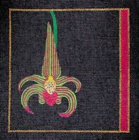 MZC Colorful Orchid on Black HP Hand Painted Needlepoint Canvas