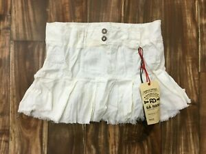 NEW Da-Nang Surplus Women's Casual Zipper Skirt Flare BIEGE LNG247E55 MEDIUM M