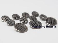 Gunmetal - Silver Blazer Buttons Set For Sport Coats or Blazers