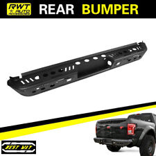 2015-2018 Ford F-150 W/ LED LIGHTS BLACK CARBON STEEL REAR BUMPER GUARD