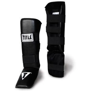 Title Vinyl MMA Shin Instep Guards