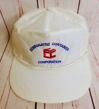 Vtg Corrugated Container Corporation Hat Cap Braided Snapback New Era Dupont