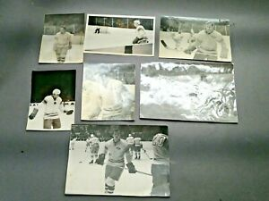 Original photos with the hockey player of the Spartak club and the USSR national