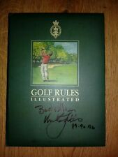 RARE!-GOLF BOOK SIGNED BY 10 MAJOR WINNERS - NICKLAUS,BALLESTEROS SNEAD *LOOK*