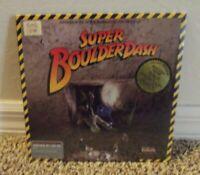 Vintage Super Boulder Dash Apple II, II+,  e,  c 64k Floppy Disk New Sealed