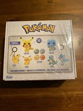 Funko Box Flocked Pokemon Pikachu #353 And Squirtle #504. Stickers Keychain Pins