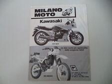 advertising Pubblicità 1984 MOTO KAWASAKI GPZ 900 R/KLR 600 ENDURO