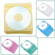 100Pcs CD DVD Bag Cover Storage Disk Case Plastic Sleeves PP Holder RASK