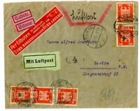 Germany Stamps Express Letter 1940s Transit and Exhibition Label