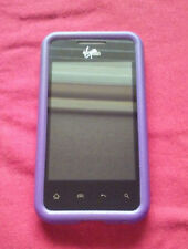 Purple Silicone LG Optimus Elite LS696 Soft Gel Cell Phone Cover Case Skin