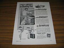 1950 Print Ad Evinrude Outboard Motors Fleetwin 7.5 HP,Fastwin 14 HP Milwaukee,W