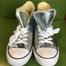 NWOB Converse All ⭐️High Tops Men's Size 9.5  baby blue metallic