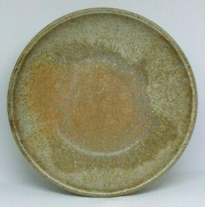 """Studio Art Pottery Signed Centerpiece Bowl, Mottled Earthtone, 11"""" Hand Thrown"""