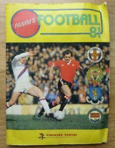 Panini Football 81 Sticker Album - Complete