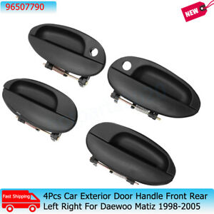 4Pcs Car Exterior Door Handle Front Rear Left Right For Daewoo Matiz 1998-2005