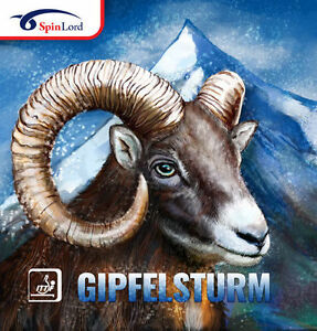 SPINLORD GIPFELSTURM MEDIUM PIMPLE TABLE TENNIS RUBBER OFFICIAL UK