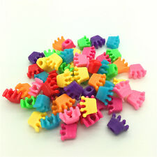 50pcs Mixed Crown Acrylic Perforation beads Children Kid DIY Jewelry Making #08